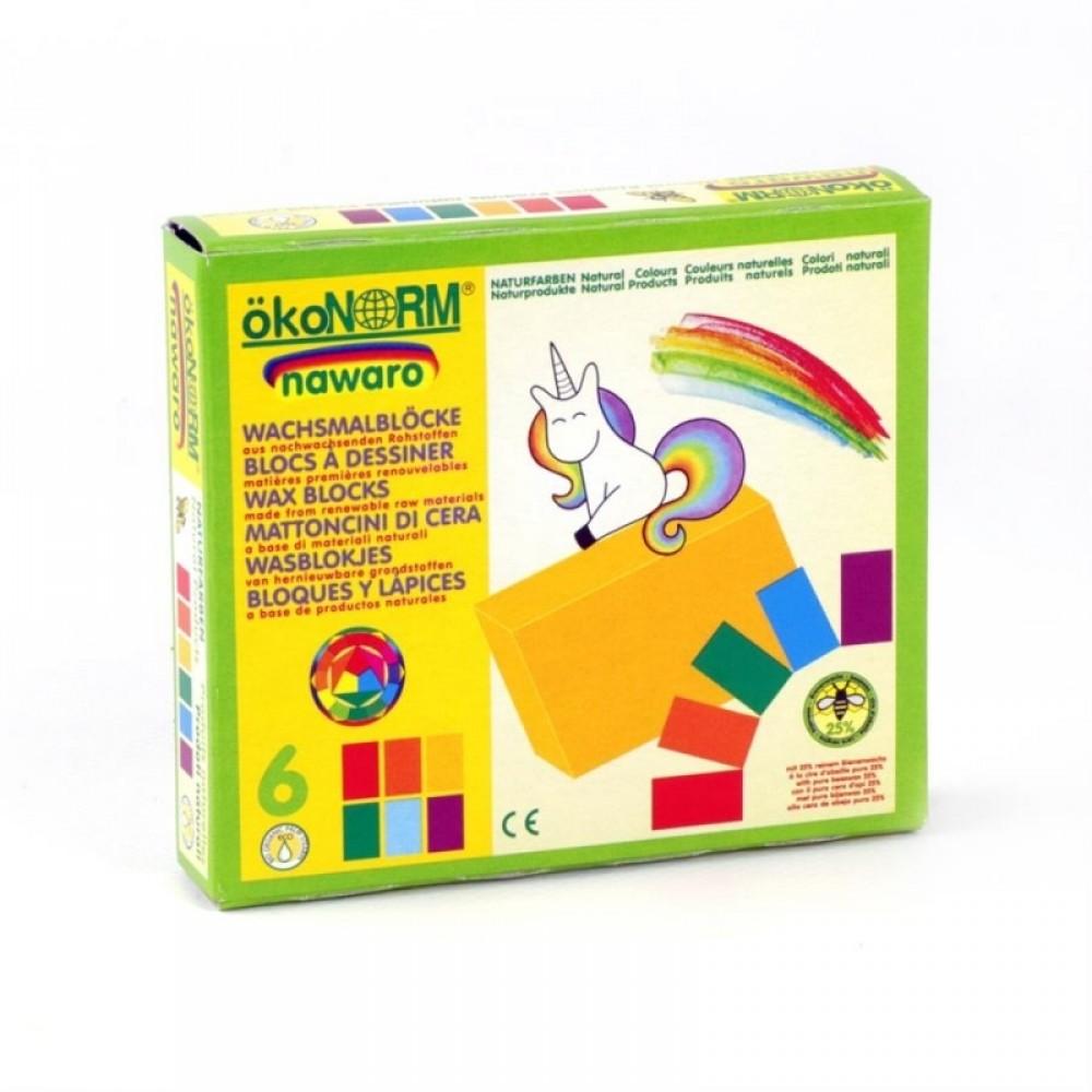 ÖkoNORM bivoks blokke 6 stk. unicorn-01