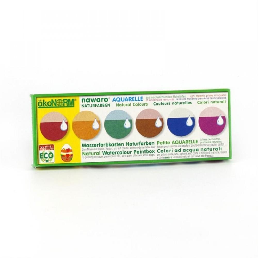 ÖkoNORM grøntsagsfarvelade mini vandfarver 6 farver-01