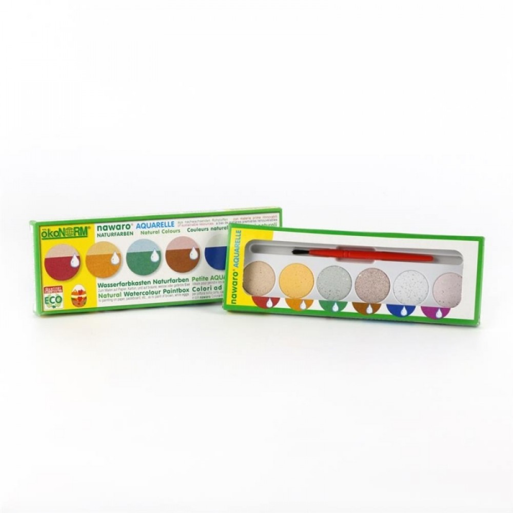 ÖkoNORM grøntsagsfarvelade mini vandfarver 6 farver-31