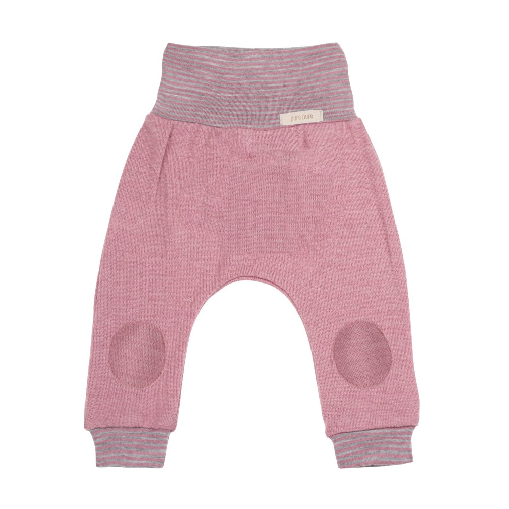 Pure Pure bukser uld and silke cashmere rose-31