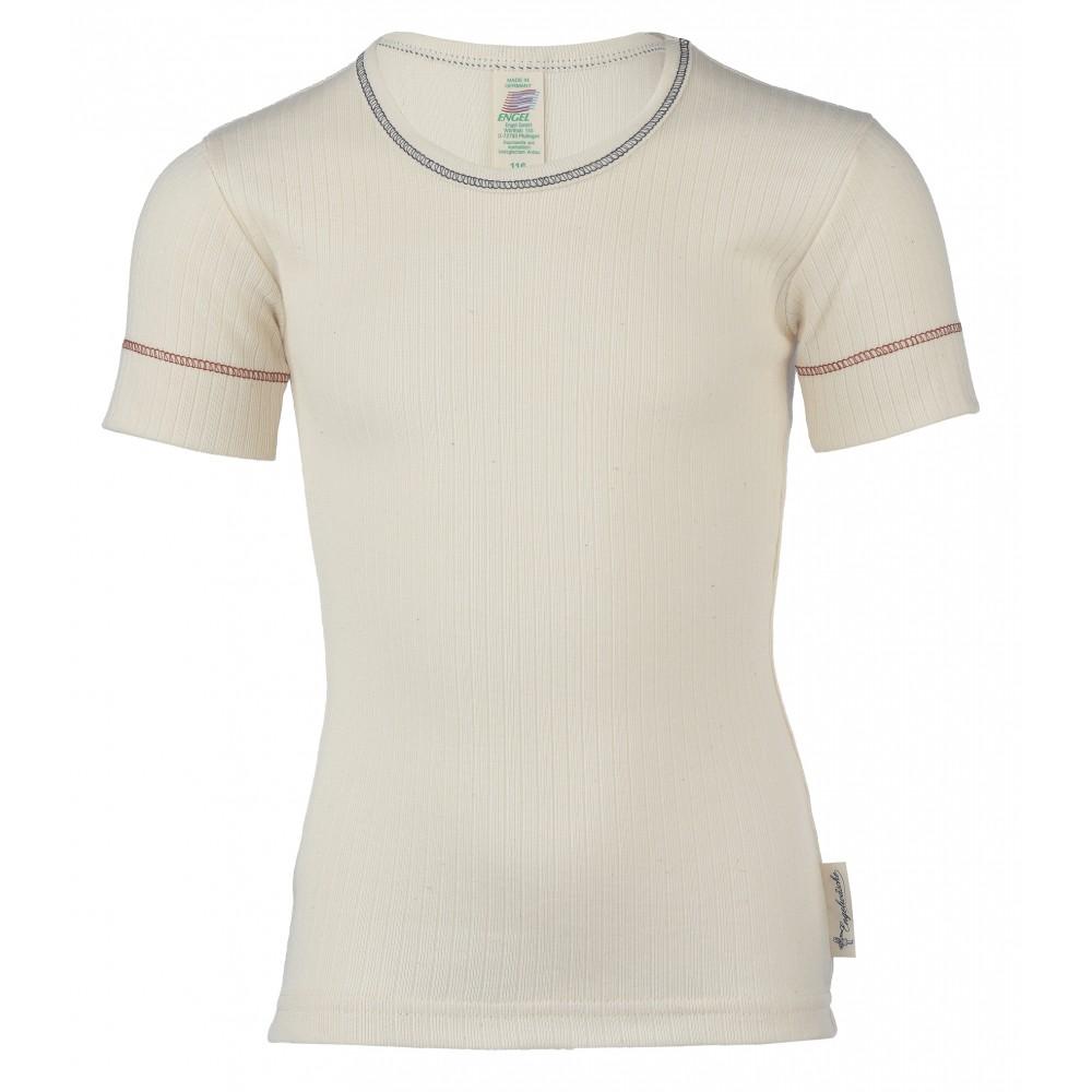 Engel kortærmet t-shirt økologisk bomuld natur-31