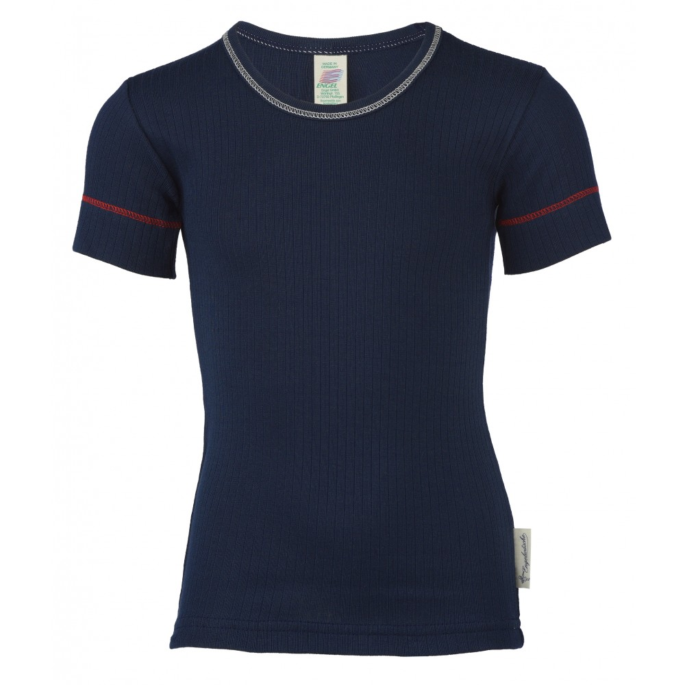 Engel kortærmet t-shirt økologisk bomuld indigo-31