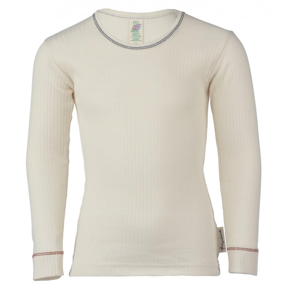 Engel langærmet t-shirt økologisk bomuld natur-31