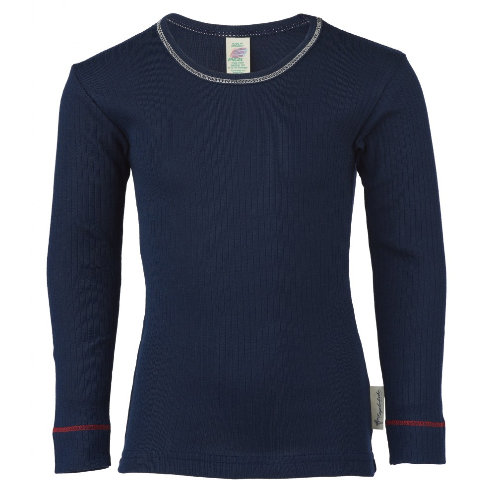 Engel langærmet t-shirt økologisk bomuld indigo-31