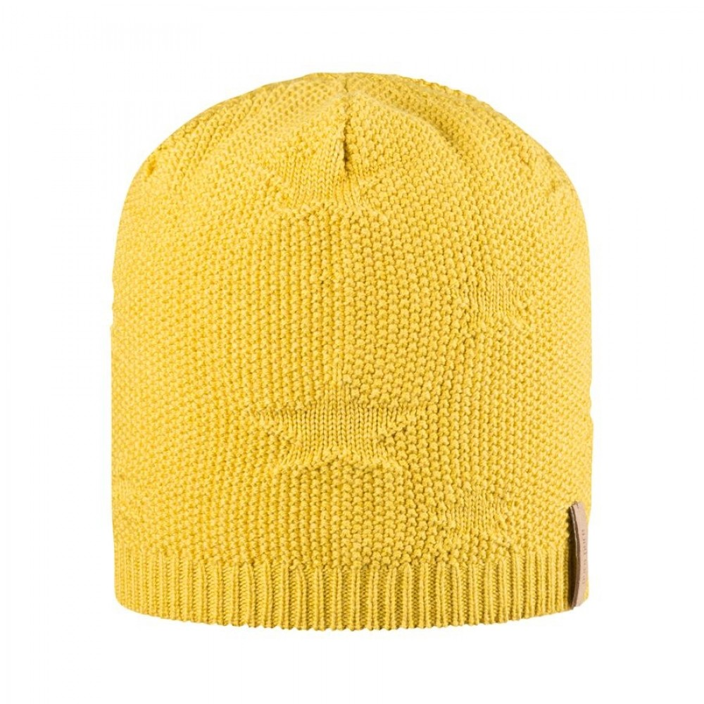 Pure Pure beanie hue uld/silke/bomuld Lemon curry-01