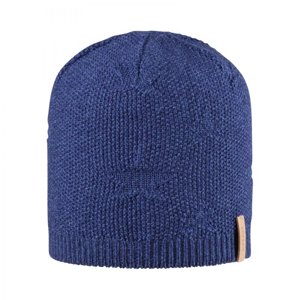 Pure Pure beanie/hue uld/silke/bomuld marineblå-31