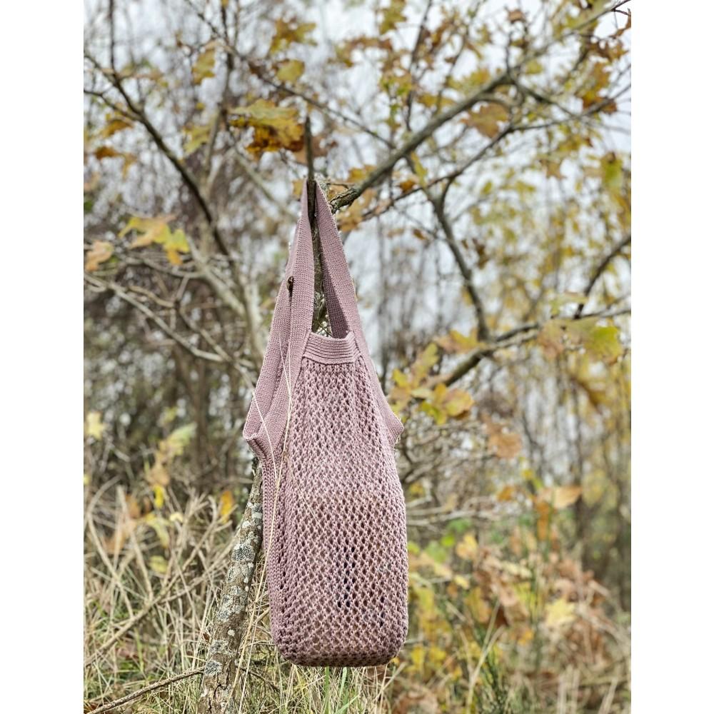 By Lohn knitted tote bag desert rose-31