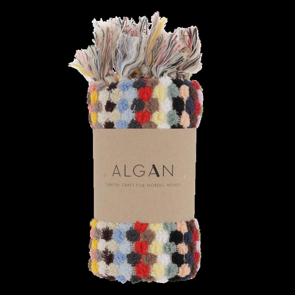 Algan Ahududu gæstehåndklæde 45x100 cm. multi-31