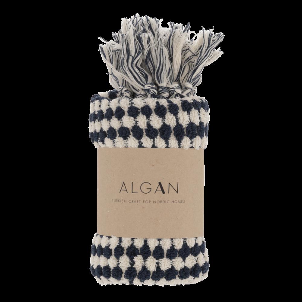 Algan Ahududu gæstehåndklæde 45x100 cm. marine-31