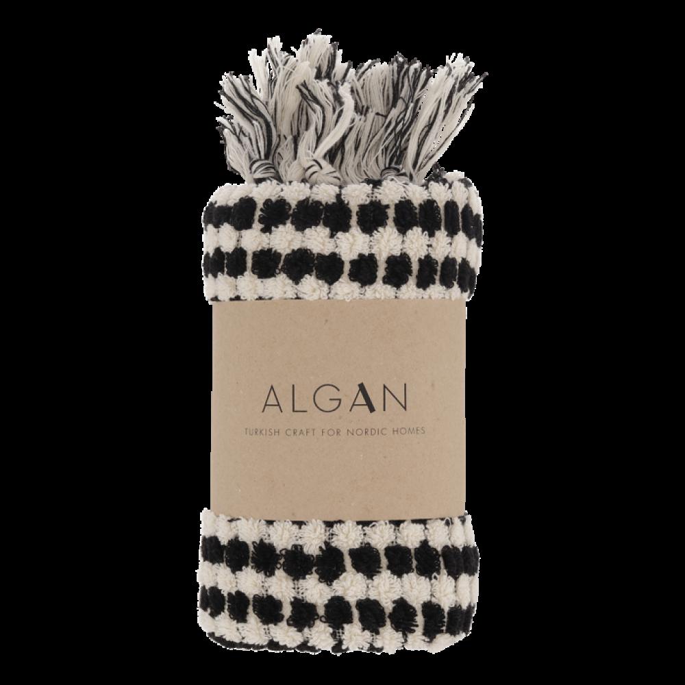 Algan Ahududu gæstehåndklæde 45x100 cm. sort-31