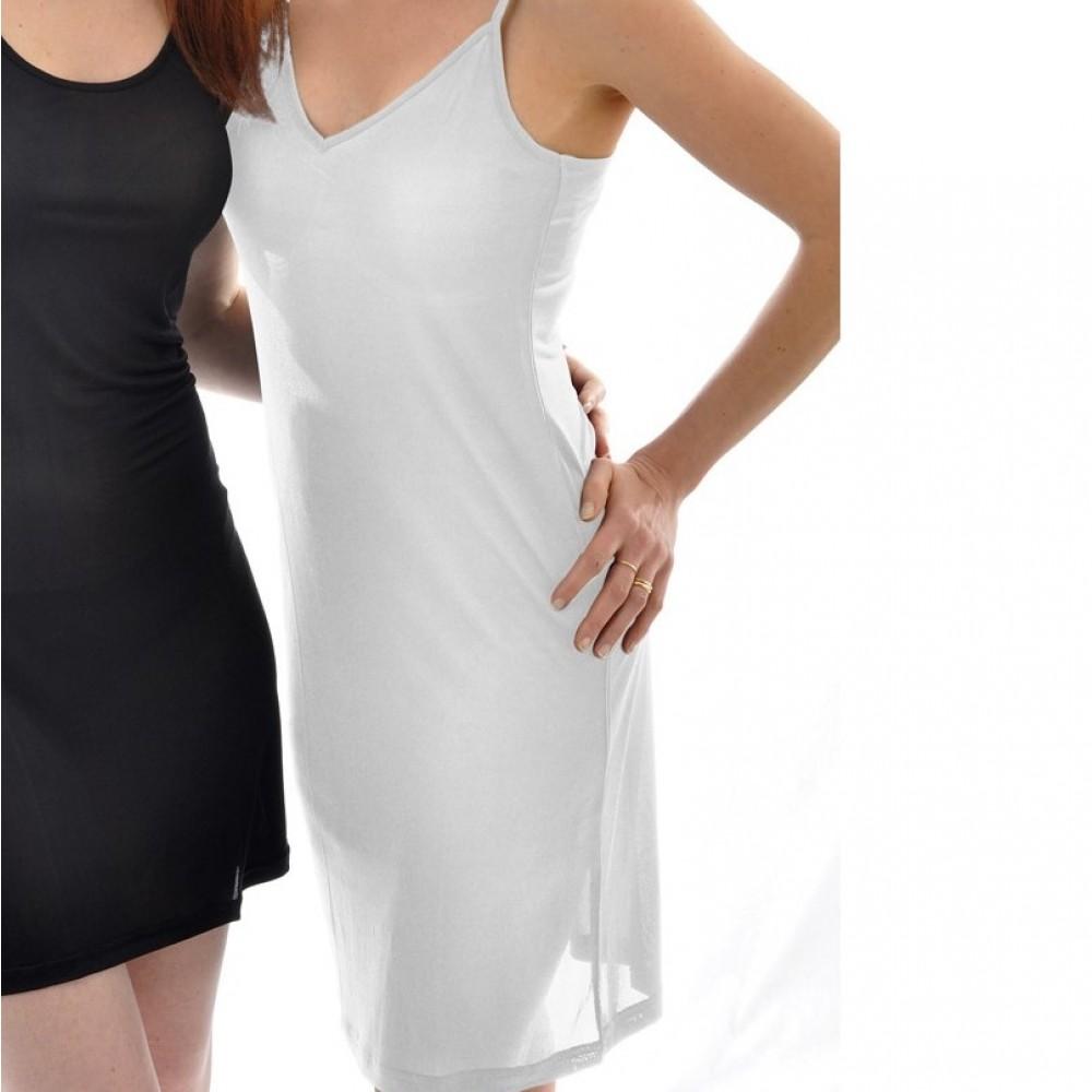 Alkena underkjole/natkjole økologisk silke hvid-01