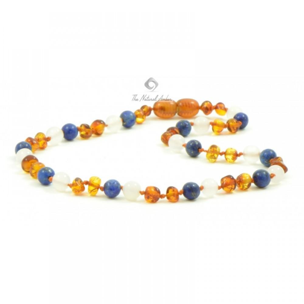 rav halskæde større børn rav/hvid agat/lapis lazuli-31