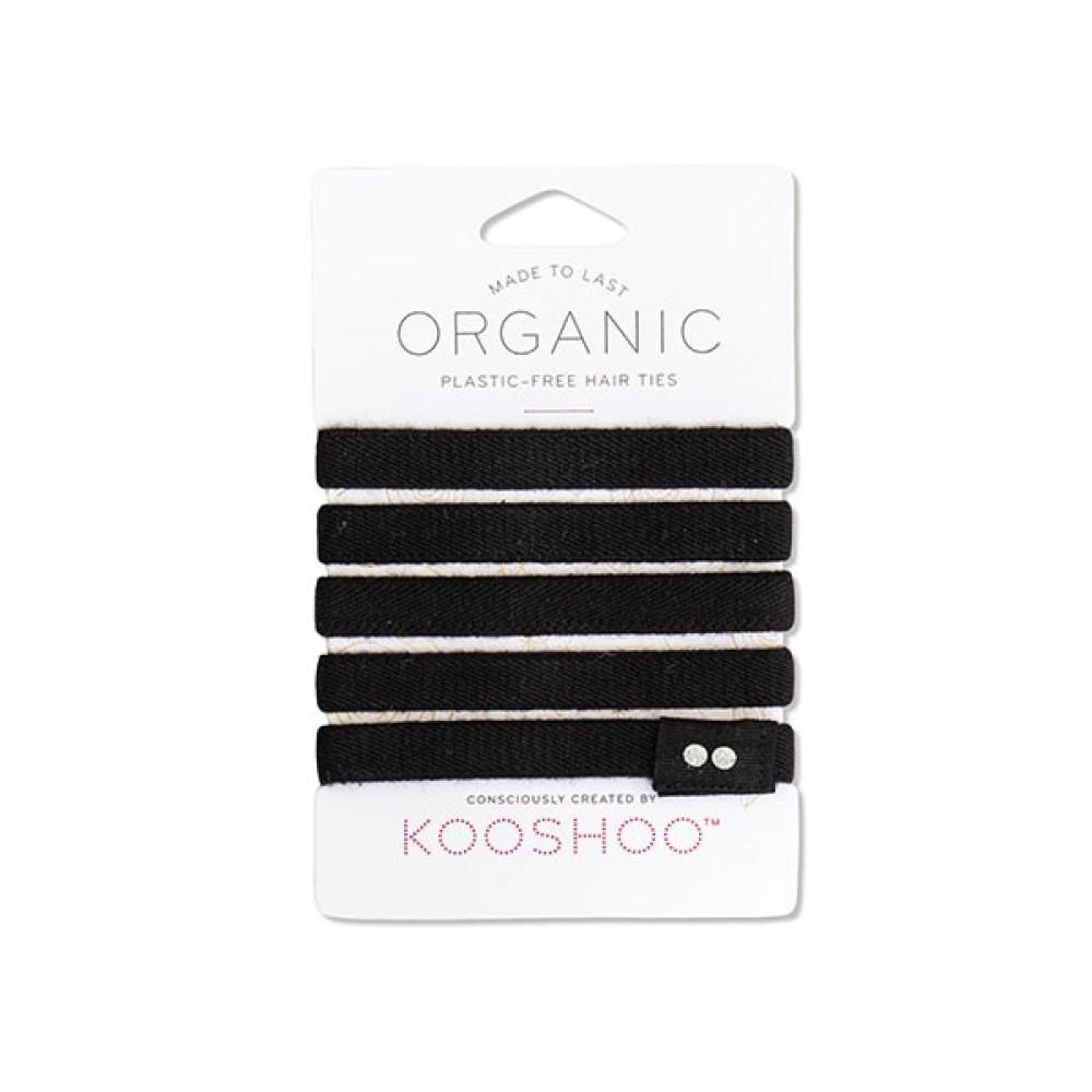 Kooshoo økologiske hårelastikker 5 stk. sort-31
