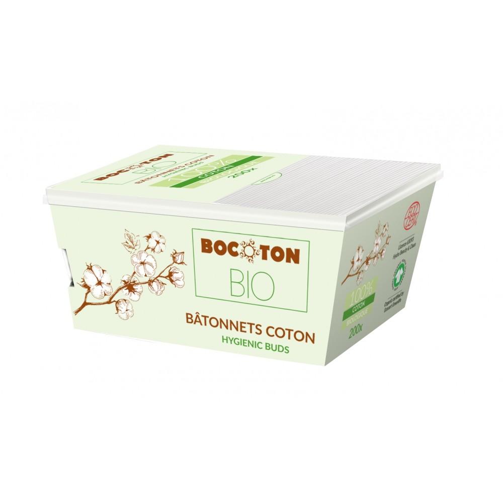 Bocoton Bio økologiske vatpinde 200 stk.-31