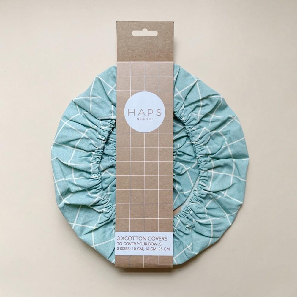 Haps Nordic 3-pak cotton covers sky check-31