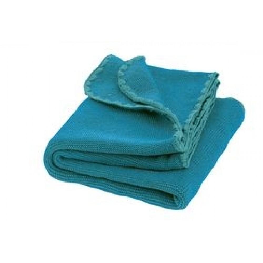 DISANA babytæppe økologisk uld blue/lagoon melange-31