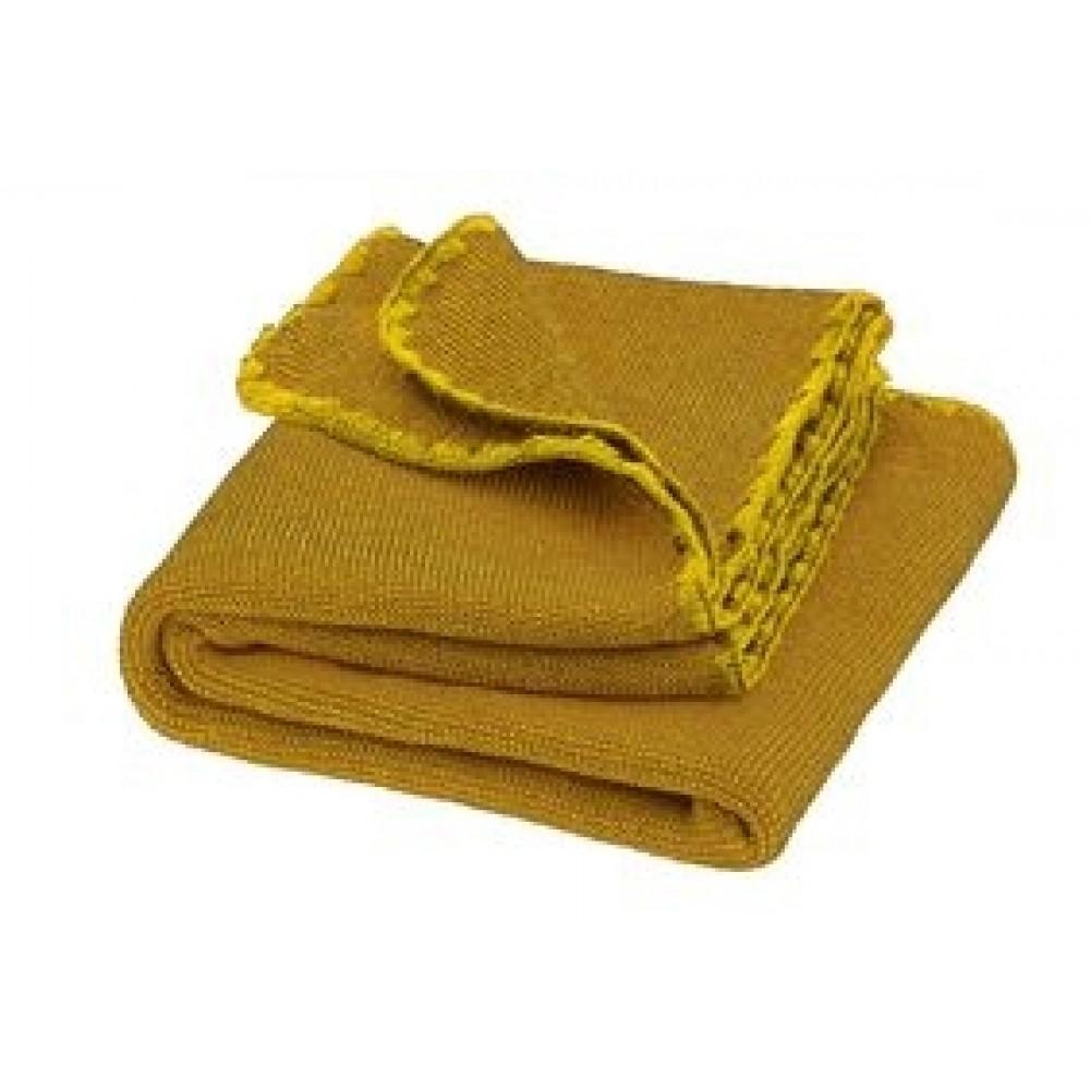 DISANA babytæppe økologisk uld curry/gold melange-31