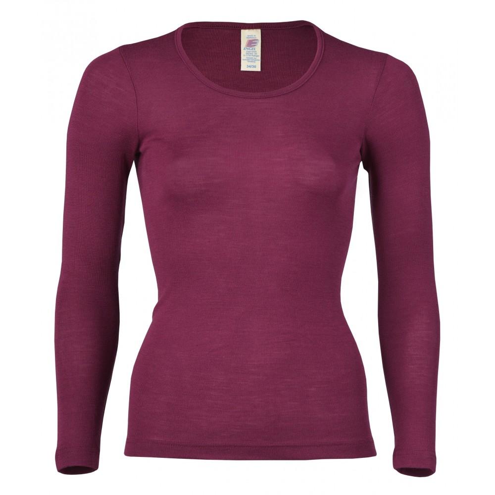 Engel dame langærmet t-shirt uld and silke atlantic-01