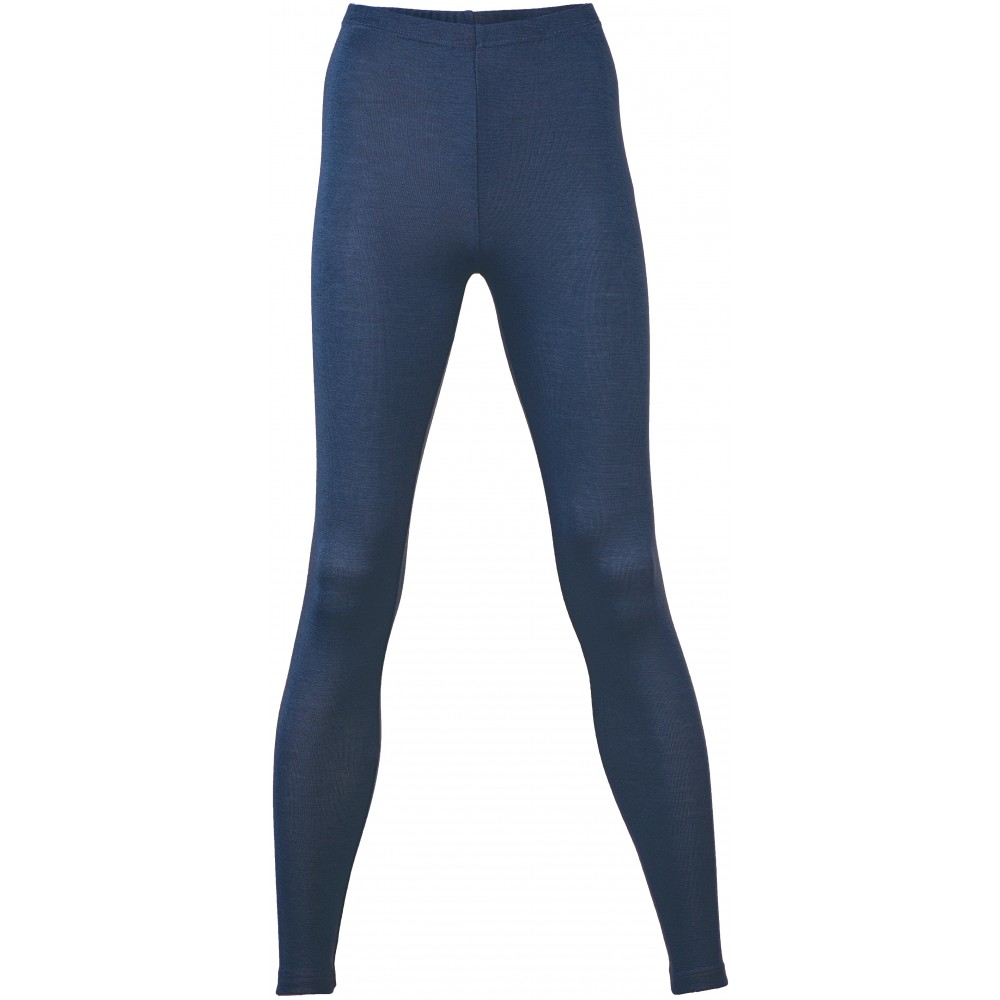 Engel dame leggings uld and silke marineblå-31