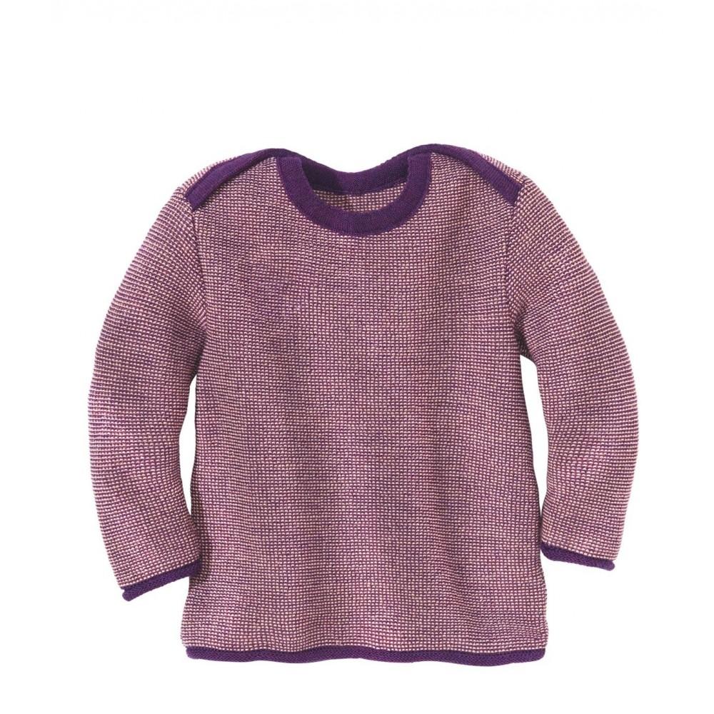 DISANA | striktrøje | plum/rosé melange-34