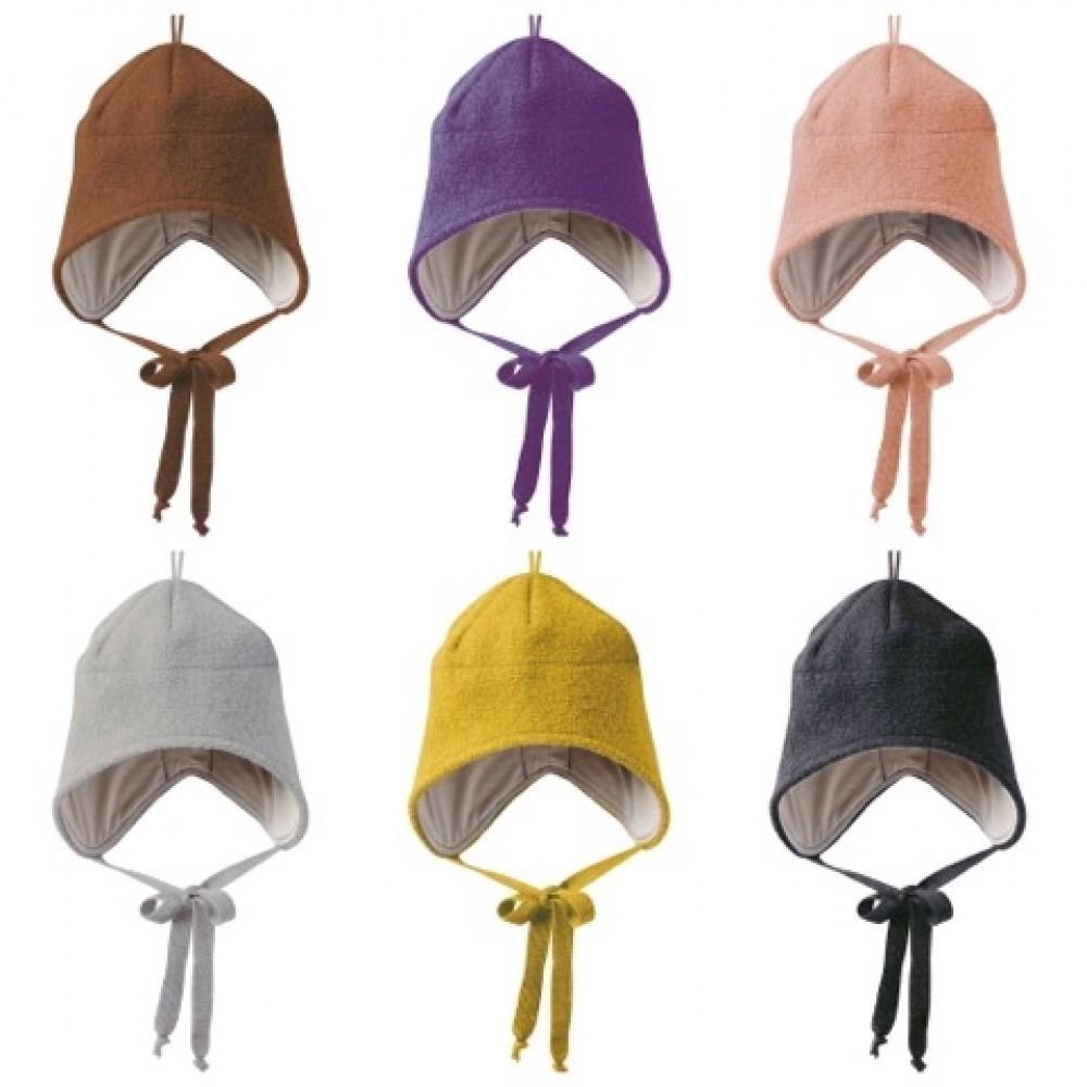 disana |hue med bindebånd |kogt uld |mange farver-31