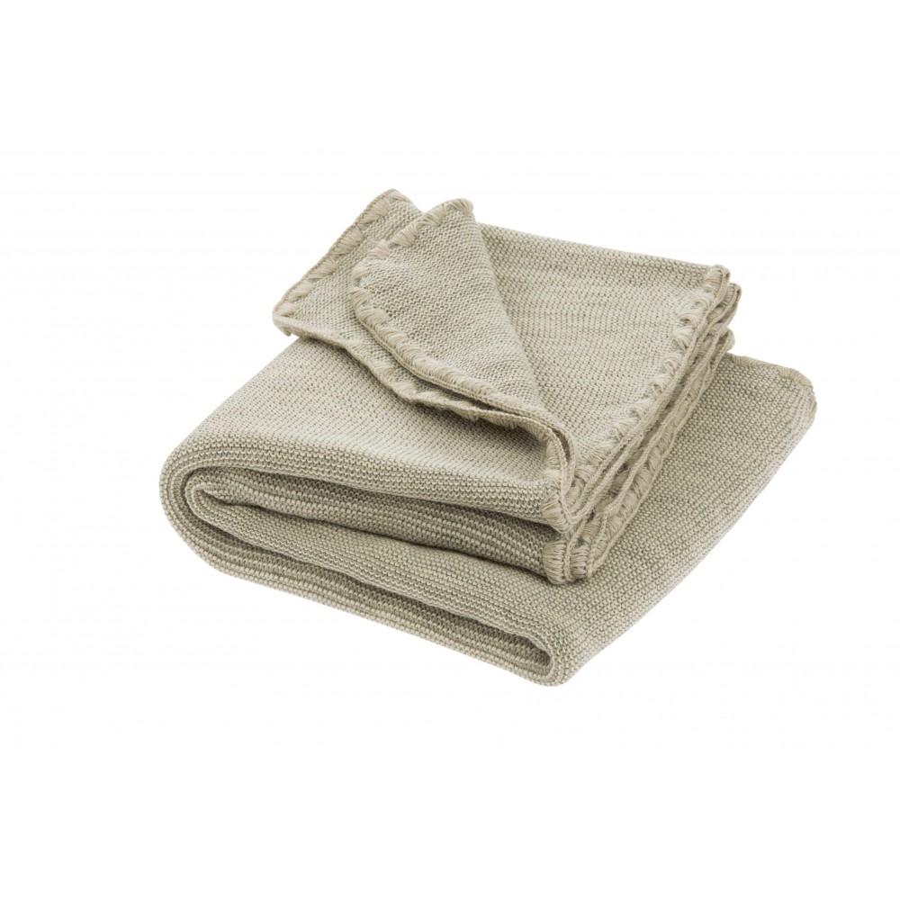DISANA babytæppe økologisk uld grå/natur melange-31