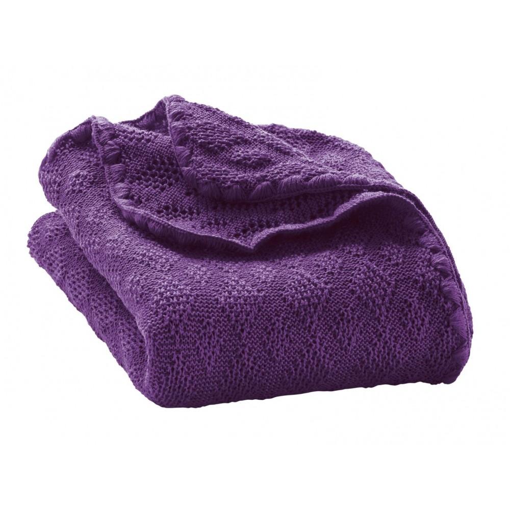 DISANA babytæppe økologisk uld lilla-31