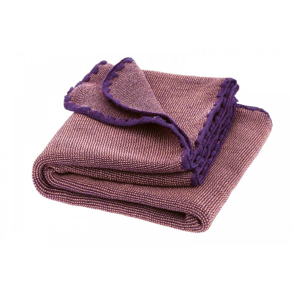 DISANA babytæppe økologisk uld lilla/rosé melange-31