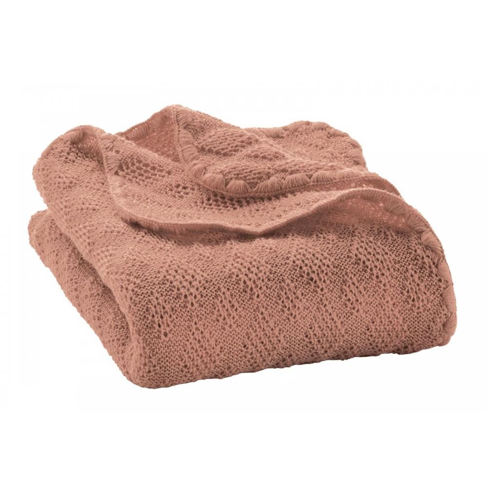 DISANA babytæppe økologisk uld rosé-31