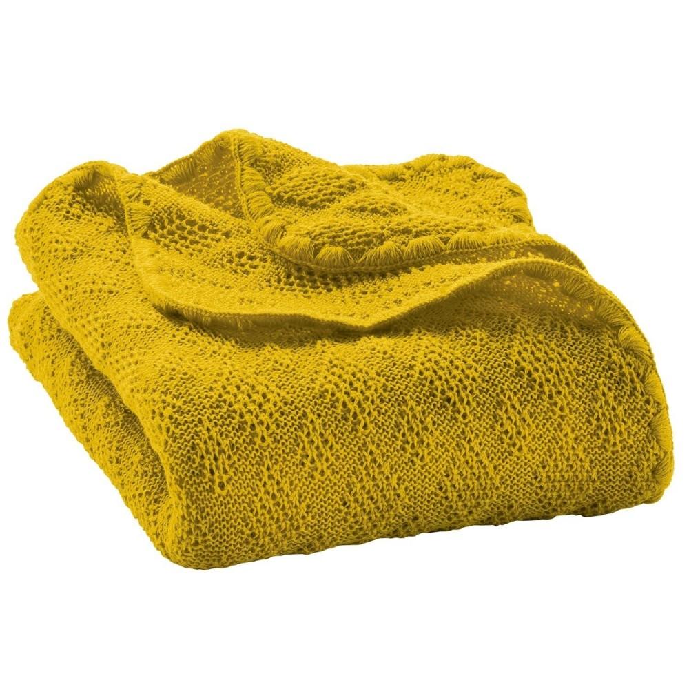 DISANA babytæppe økologisk uld curry-31