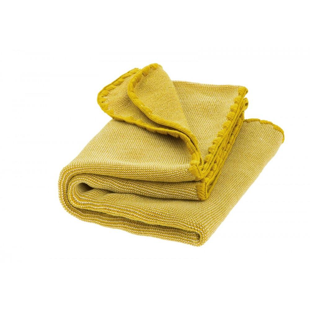 DISANA babytæppe økologisk uld curry melange-31