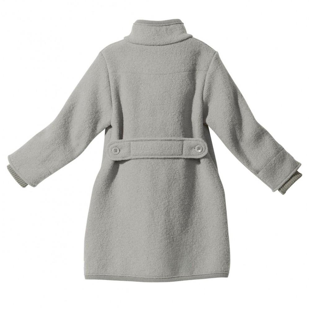 DISANA | lang uldjakke | kogt uld | grå-01