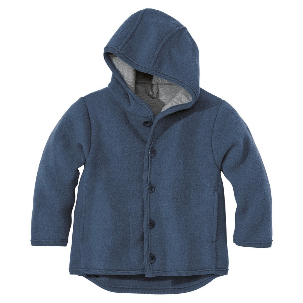 DISANA | uldjakke | kogt uld | marineblå-32