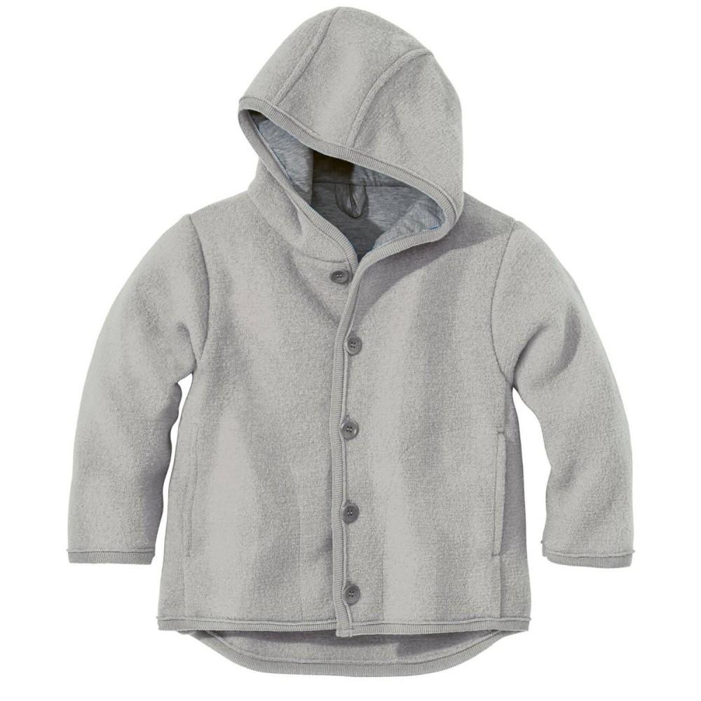 DISANA | uldjakke | kogt uld | grå-32