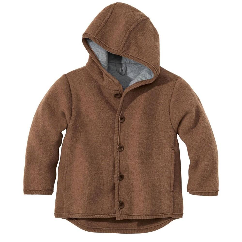 DISANA | uldjakke | kogt uld |hasselnød/brun melange-32