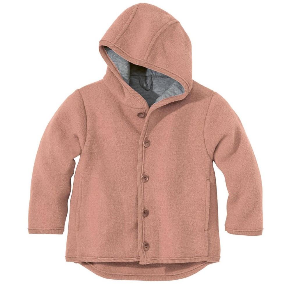 DISANA   uldjakke   kogt uld   rosé ældre udgave-31