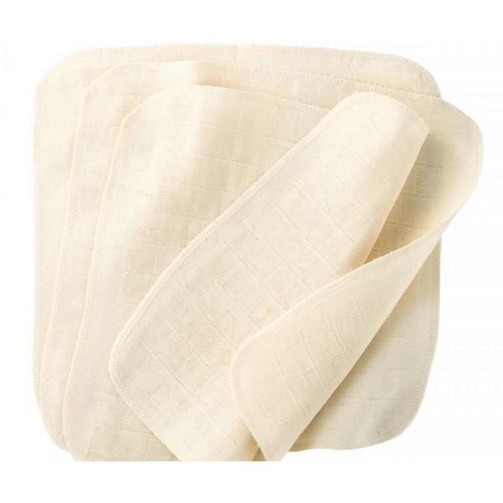 DISANA vaskeklude 5 stk. økologisk bomuld-01