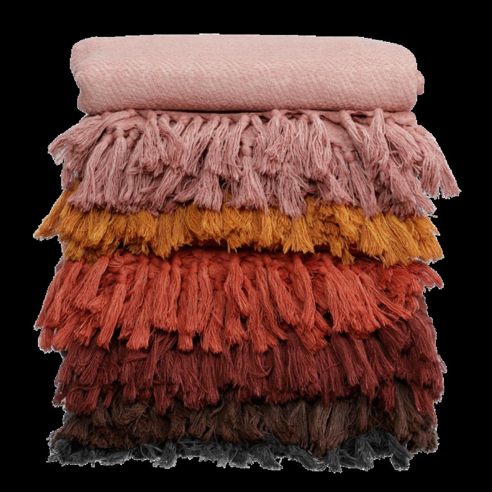 Algan Dolu plaid eller tæppe 110x190 cm. bordeaux-01