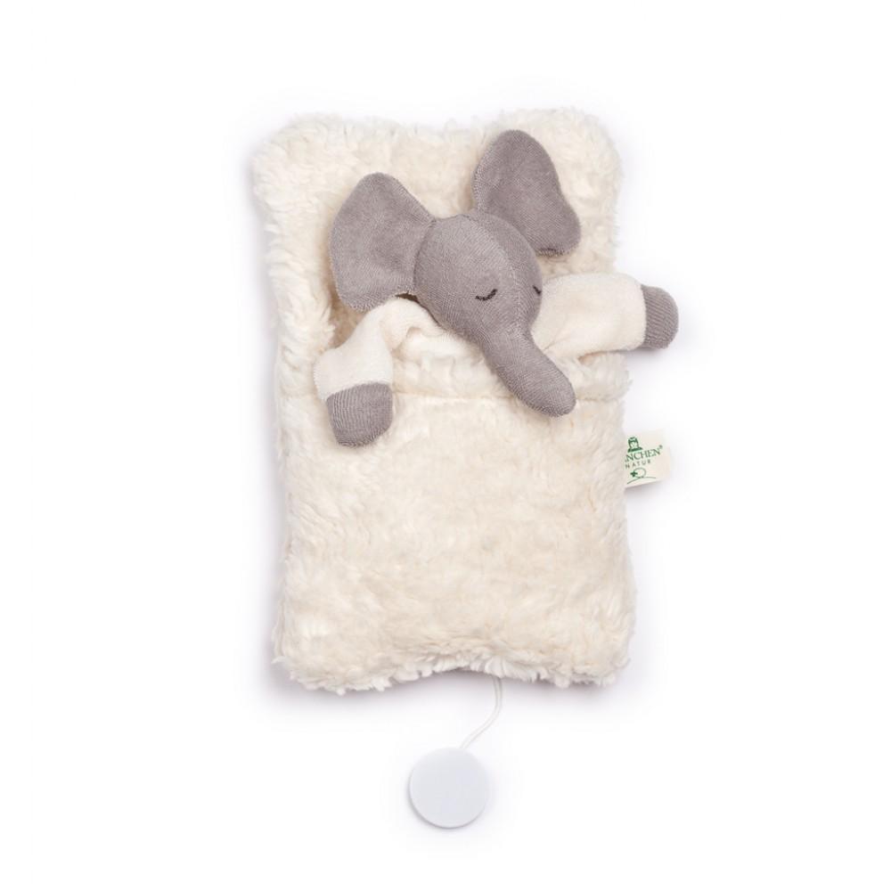 Nanchen elefant i sovepose med godnat musik-31