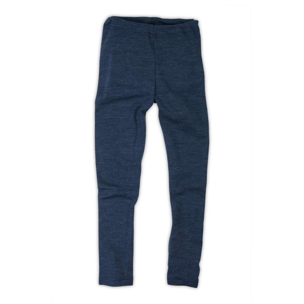 Engel leggings uld blå melange-01