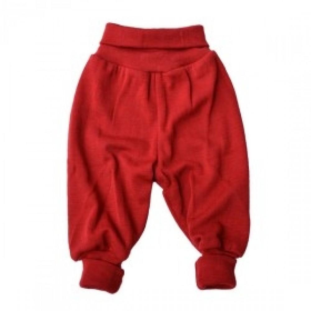 Engel babybukser uld rød melange-32