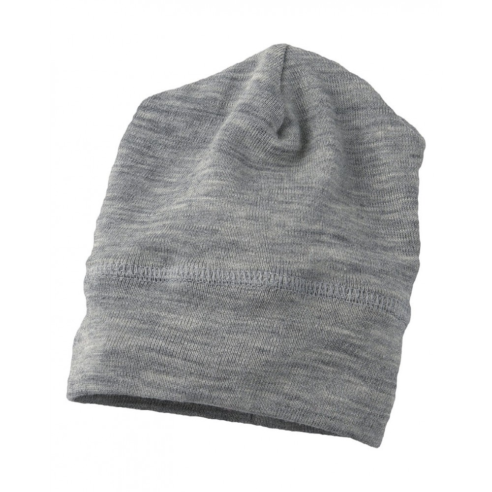 Engel babyhue/beanie uld and silke grå melange-31