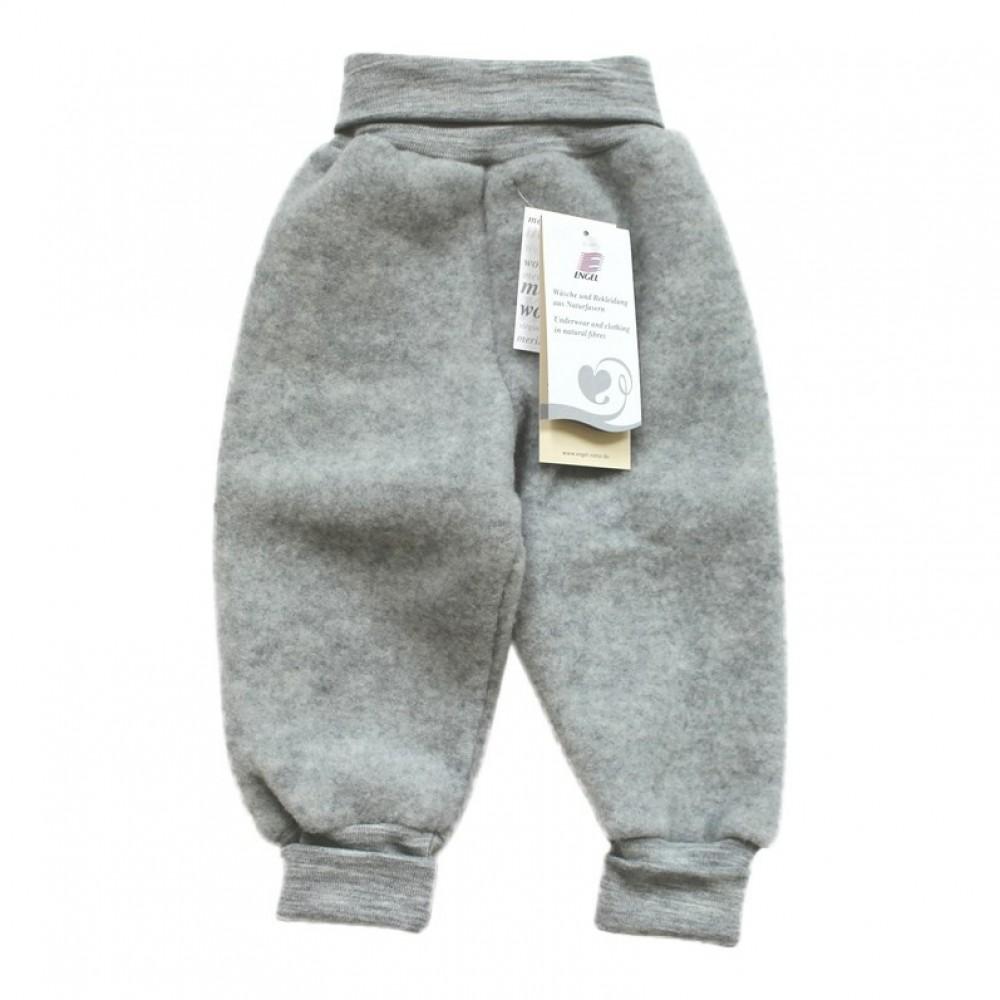 Engel bukser i økologisk uldfleece grå-02