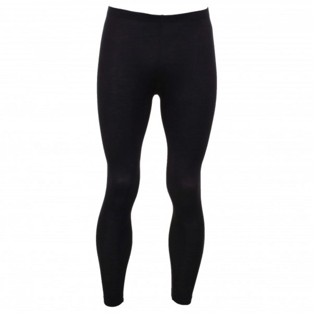Engel herre leggings i økologisk uld and silke sort-31