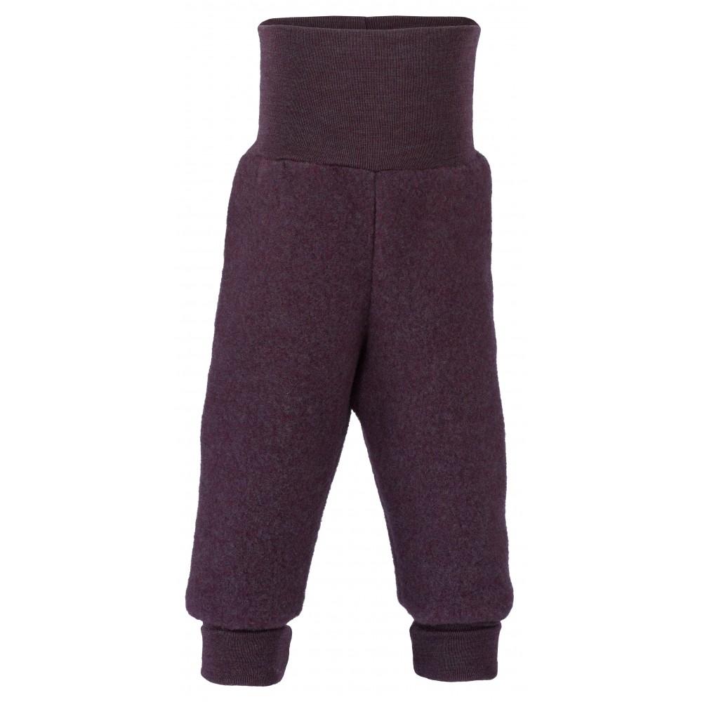 Engel bukser i økologisk uldfleece mørk lilla-31