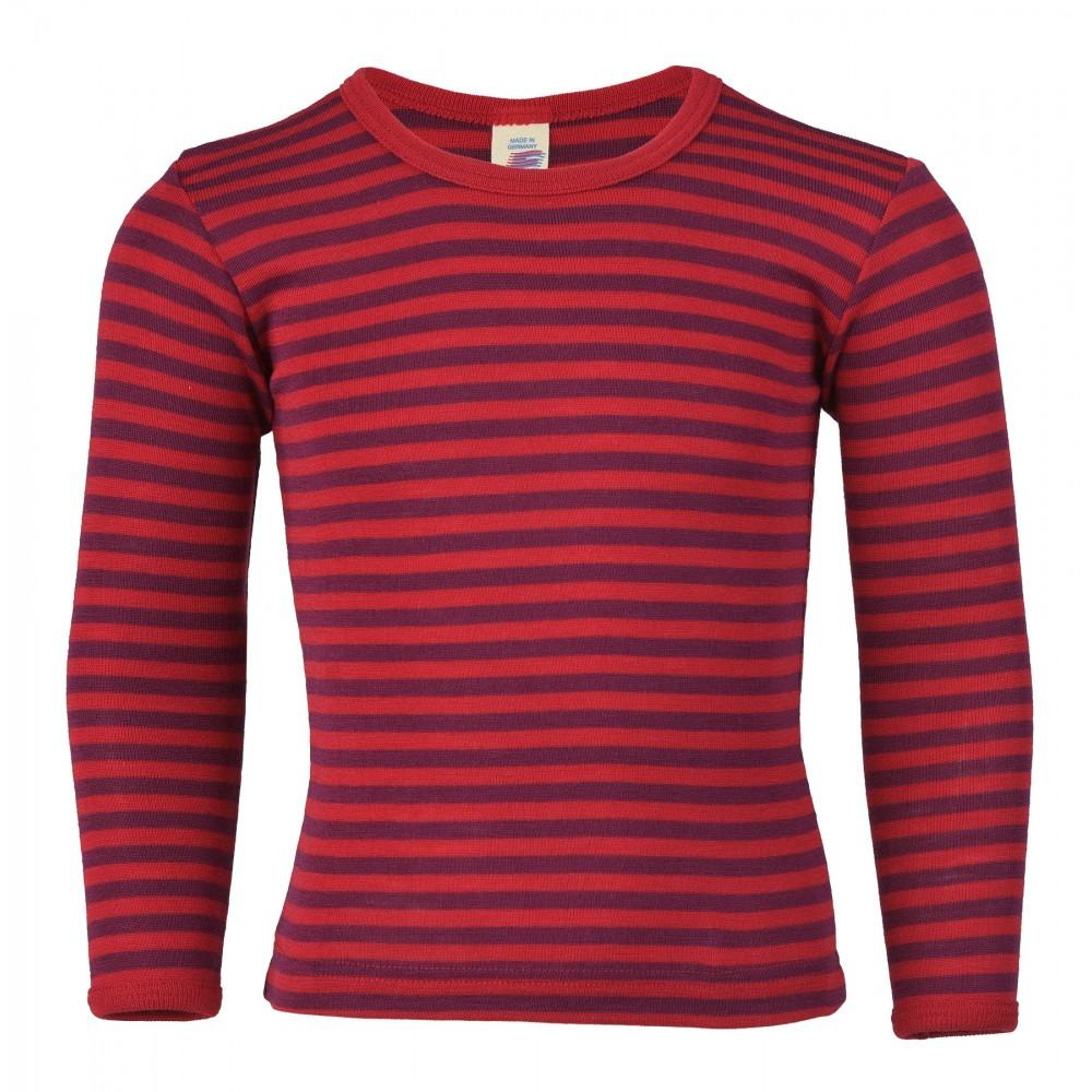 f55f3978 rød og lilla bluse i økologisk uld og silke fra Engel Natur