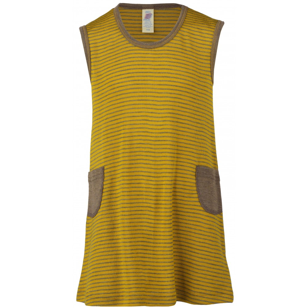 Engel kjole uld and silke valnød/safran-31