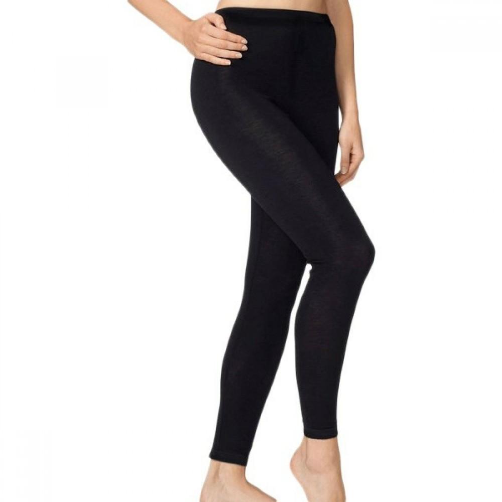 Engel dame leggings uld and silke sort-01