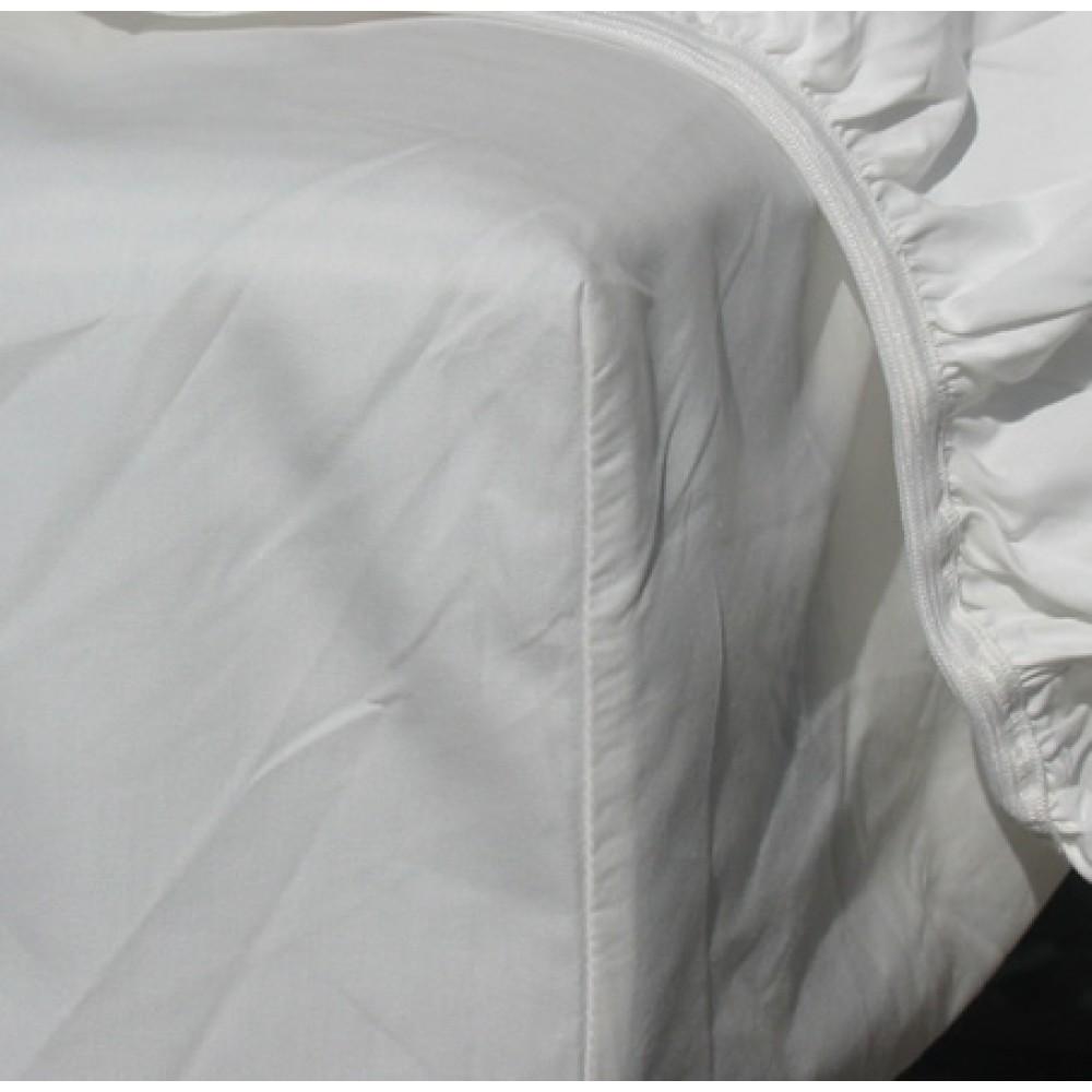 VivaTex faconlagen med elastikkant hvid flere størrelser-01