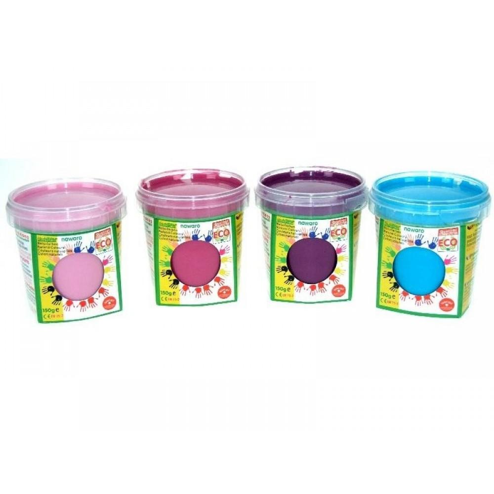 ÖkoNORM fingermaling sæt med 4 stk. rosa-lilla-pink-turkis-01